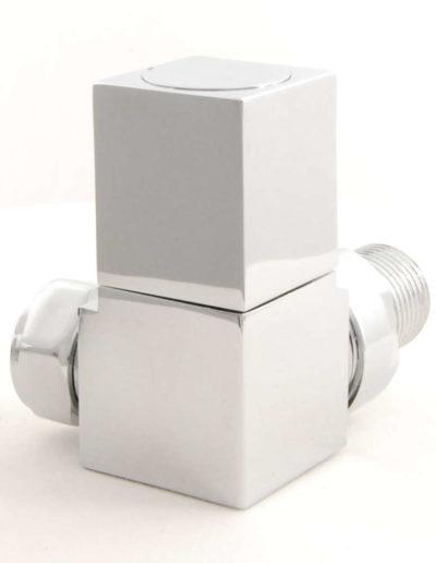 Square Corner Radiator Valves Cubex - Chrome